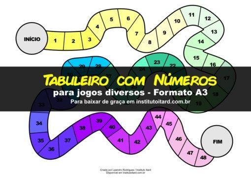 Jogo de Tabuleiro com Números