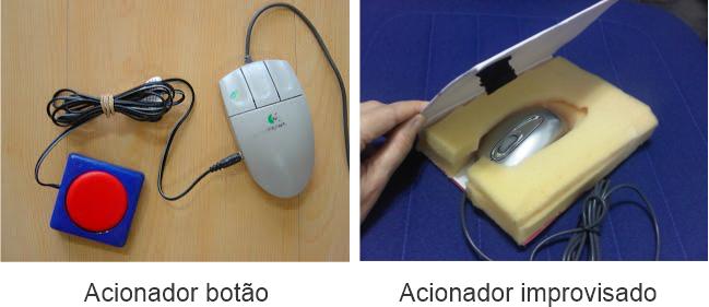 acionadores improvisados tecnologia assistiva - Como Trabalhar com Paralisia Cerebral na Escola